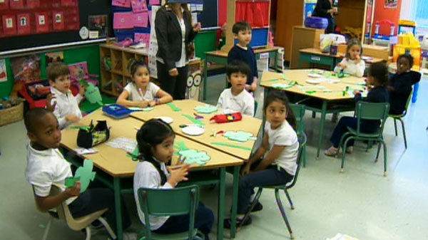 Premier Dalton McGuinty visited this kindergarten classroom on Wednesday, March 2, 2011.
