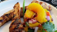 Grilled Chicken Tenderloin with Peach Salsa