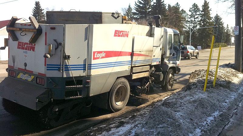 Edmonton street sweeping