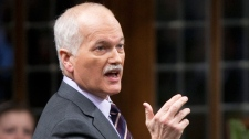 NDP leader Jack Layton rises during Question Period in the House of Commons on Parliament Hill in Ottawa, Wednesday March 2, 2011. (Adrian Wyld / THE CANADIAN PRESS)