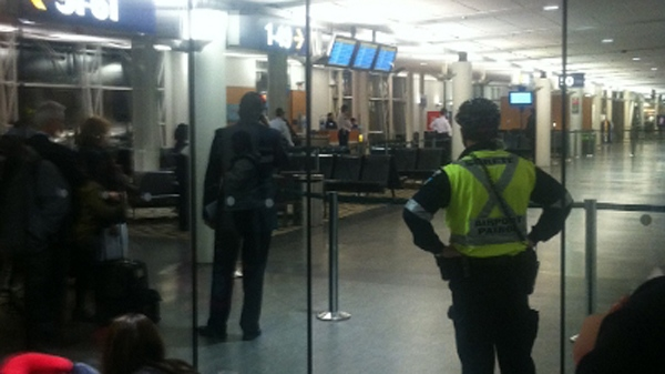 Rev. Michael Wilson took this picture as his flight was delayed because of the suspicious object. (March 3, 2011)