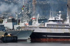 Fishing boat collides with HMCS Winnipeg