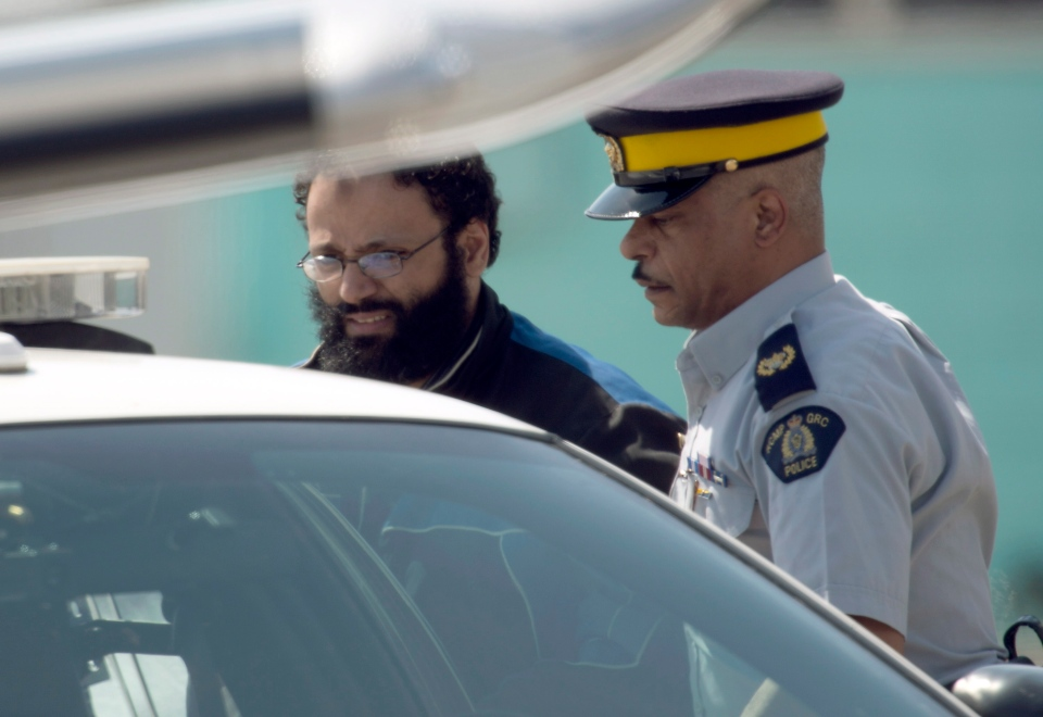 Terror suspect Chiheb Esseghaier arrives at Buttonville Airport just north of Toronto on Tuesday, April 23, 2013. (Frank Gunn / THE CANADIAN PRESS)