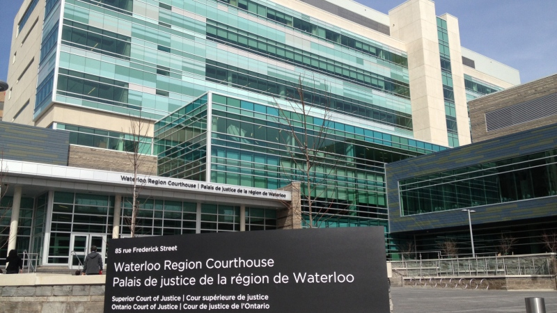 The Waterloo Region courthouse is seen on Tuesday, April 23, 2013. (David Imrie / CTV Kitchener)