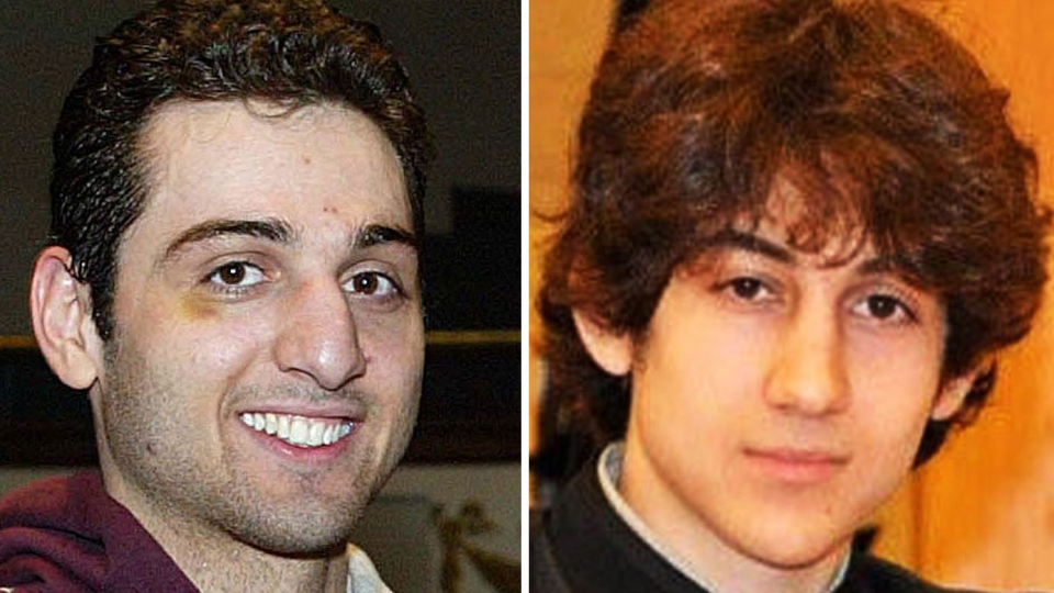 This combination of undated file photos shows Tamerlan Tsarnaev, 26, left, and Dzhokhar Tsarnaev, 19. (The Lowell Sun & Robin Young)