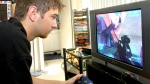 Tom Taylor practices his video game playing skills at his home in Jupiter, Fla., Thursday, Nov. 9, 2006. (AP / Rick Silva)