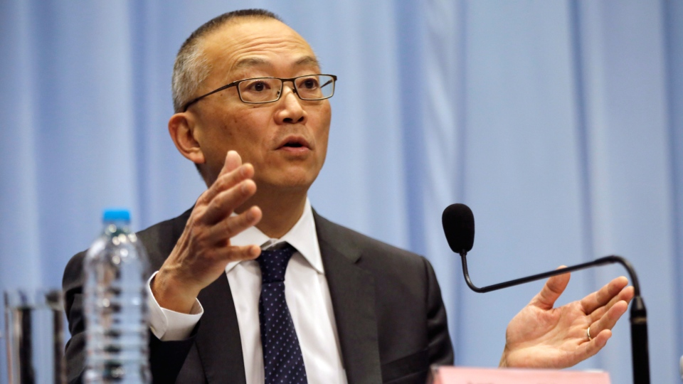 Keiji Fukuda, Assistant Director-General for Health Security and Environment of World Health Organization (WHO) answers a question during the press conference in Shanghai, China ON Monday, April 22, 2013. (AP / Eugene Hoshiko)