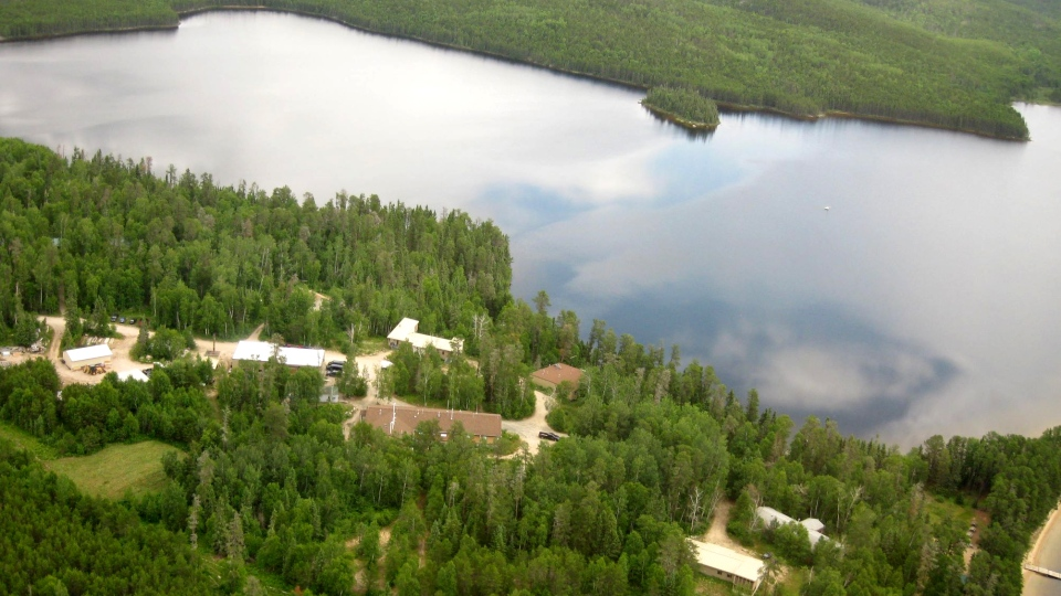 An aerial view shows the ELA in northwestern Ontario. (file image)