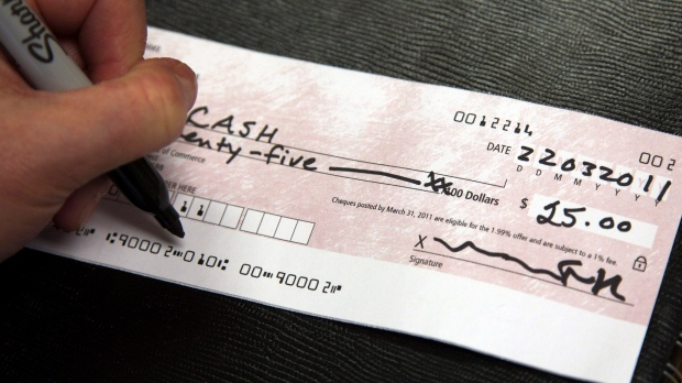 writing a cheque to yourself canada