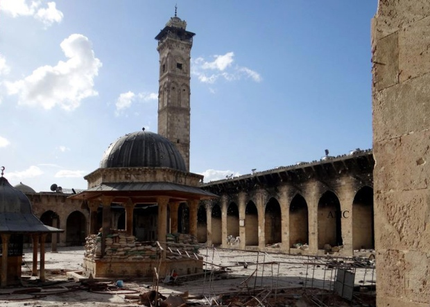 Mosque with minaret