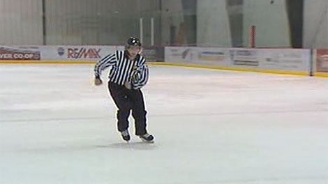 Referee Jeremie Gauvin says he was struck by a player.