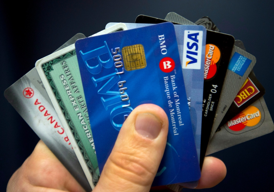 Credit cards are seen Wednesday, Dec. 12, 2012 in Montreal. (Ryan Remiorz / THE CANADIAN PRESS)