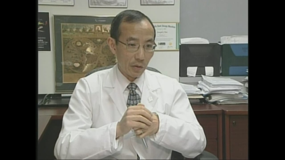 Dr. Joseph Chin, chief of surgical oncology at the London Health Sciences Center, discusses the new treatment for prostate cancer in London, Ont. on Wednesday, April 24, 2013.