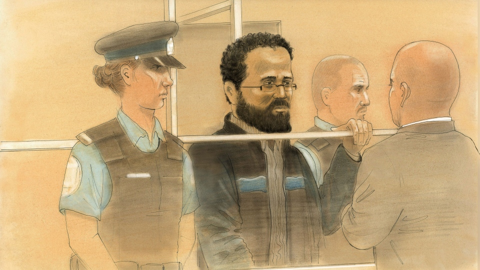 Chiheb Esseghaier appears in a Toronto courtroom.