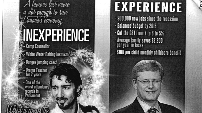Partial image of a 'ten percenter flyer' the Liberals say will be distributed by the Conservative Party.