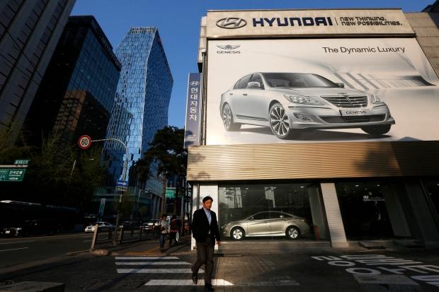 Hyundai dealership in downtown Seoul, South Korea
