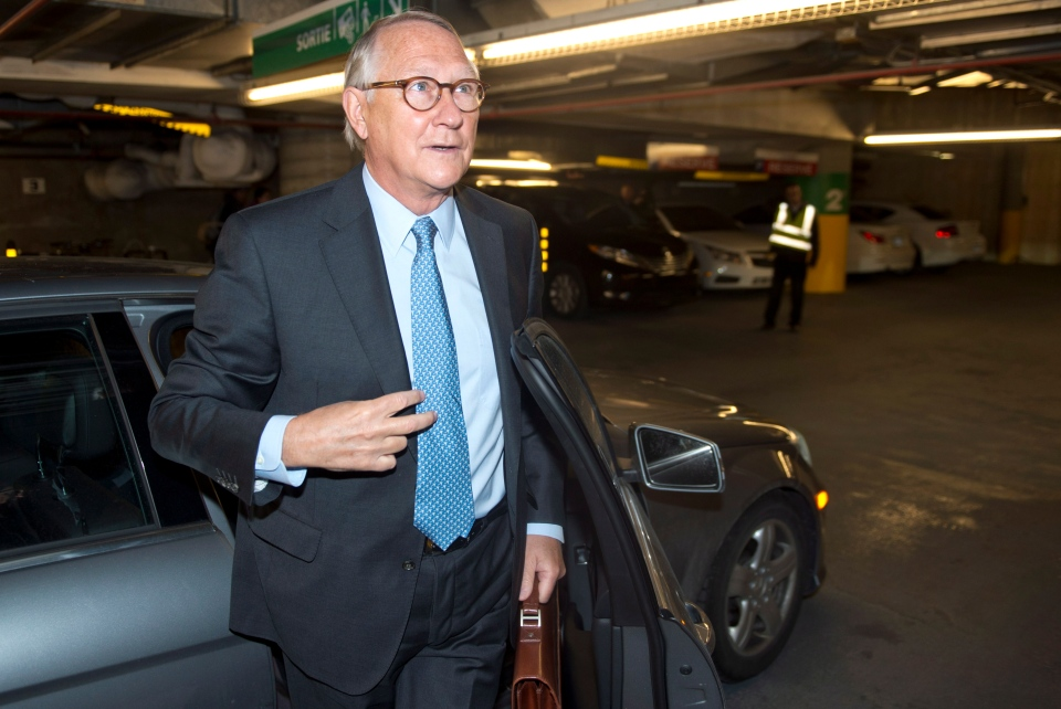 Former Montreal mayor Gerald Tremblay arrives to t