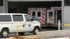Ambulances are seen at a Waterloo Region hospital on Friday, March 4, 2011.