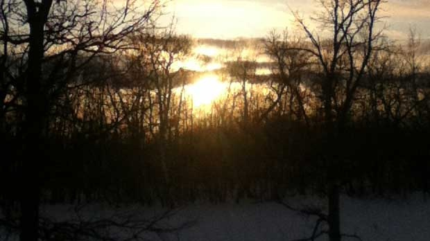 Sunset from Lake Manitoba First Nation. Photo by Desiree Chippeway.