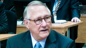 Former Montreal mayor Gerald Tremblay testifies before the Charbonneau inquiry looking into corruption in the Quebec construction industry on this image made off a television monitor in Montreal Thursday, April 25, 2013. (The Charbonneau Commission)