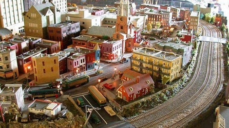 While the buildings and track can be preserved, most of the landscape will be demolished. (PHOTO COURTESY: Montreal Railroad Modelers� Association)