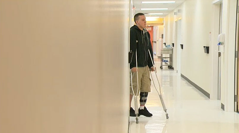 Matt Smith says a workplace accident that severely damaged his knee has changed his life forever. He's hoping surgery will help him one day return to some level of physical activity.