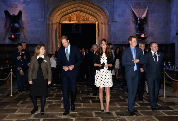 William and Kate visit Harry Potter studio