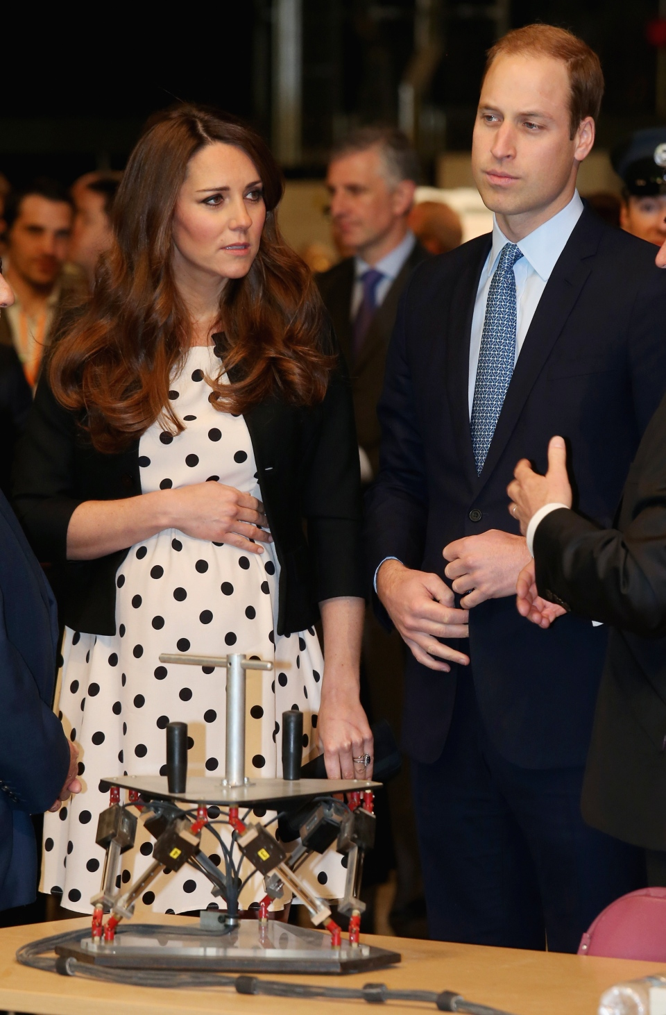 Kate the Duchess of Cambridge with her husband Prince William, right, attend the inauguration of 'Warner Bros. Studios Leavesden' near Watford on April 26, 2013. (AP / Chris Jackson)
