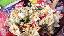 Springtime Pasta Salad with Strawberries