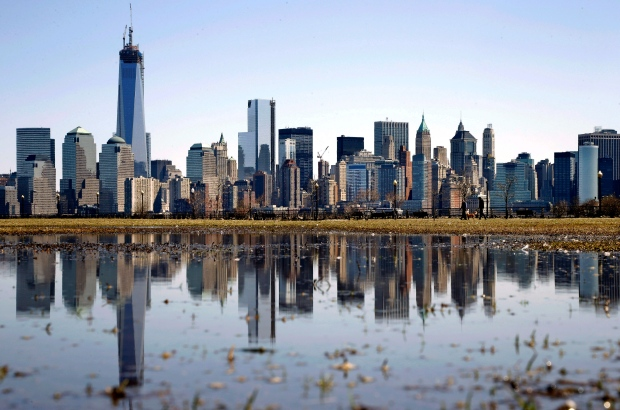 New York's Lower Manhattan skyline