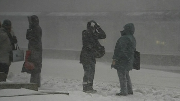 The forecast was revised, and revised, and revised again, from 5 cm of blowing snow all the way up to a 25 cm blizzard. (March 7, 2011)