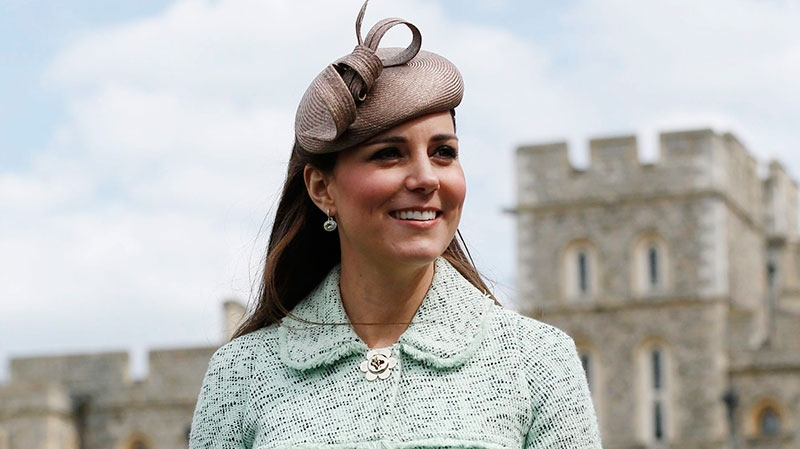 Duchess of Cambridge, attends the National Review of Queen's Scouts at Windsor Castle, near London Sunday, April 21, 2013. (AP / Olivia Harris, Pool)