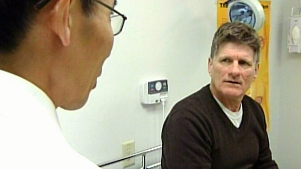 Brian Danter (right) was diagnosed with prostate cancer in 2008 and recently underwent the experimental procedure transurethral magnetic resonance.