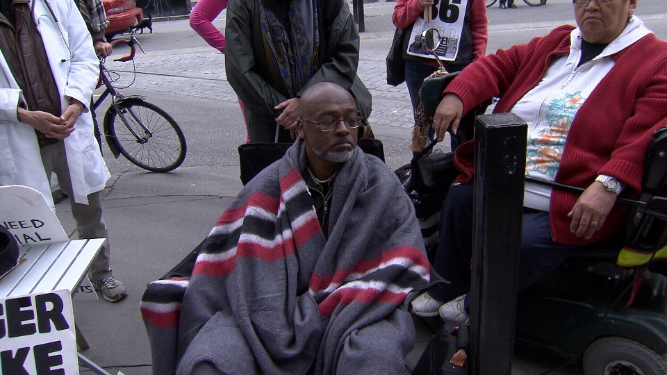"""Homeless Dave"" ended his hunger strike after 36 days."