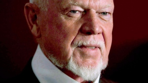 Don Cherry is in hot water after stating that he believes the men's locker-room is no place for a woman. (Darren Calabrese / THE CANADIAN PRESS)