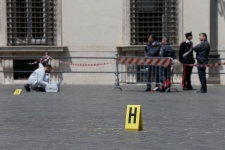 Two Italian police officers shot