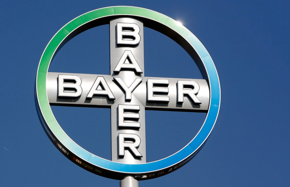 Bayer AG chemical company logo.
