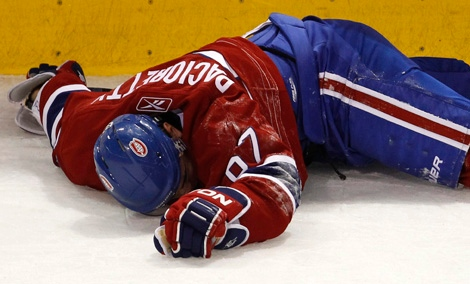 Max Pacioretty lay motionless on the ice after a vicious hit by Zdeno Chara