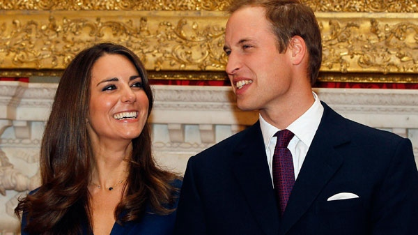 Prince William and his fiancee Kate Middleton are seen at St. James's Palace in London, after they announced their engagement, day, Nov. 16, 2010.(AP / Kirsty Wigglesworth)