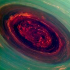 Hurricane on Saturn