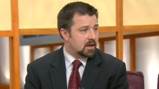 Detective Constable Jesse Mann from the York Regional Police is seen on Canada AM, Tuesday, March 8, 2011.