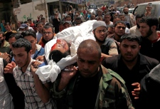 Funeral at Shati camp in Gaza City April 30, 2013