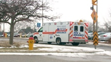 An ambulance is seen in Waterloo Region on Tuesday, March 8, 2011.