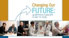 Changing our Future: Alberta's Cancer Plan to 2030 lists 10 strategies meant to improve cancer screening, diagnosis, treatment and support with the ultimate goal of preventing most cancers, curing more cases of cancers and helping those currently affected by cancer, by 2030.