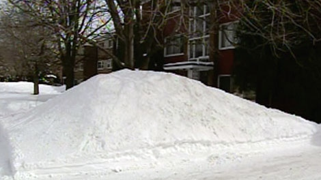It took over 3 hours for a group of residents to free a young boy who was trapped under a pile of snow.