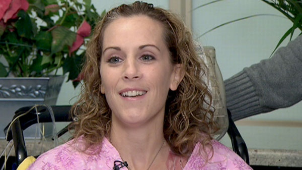 Shark attack victim Nicole Moore is shown at Sunnybrook hospital on Wednesday, March 9, 2011.