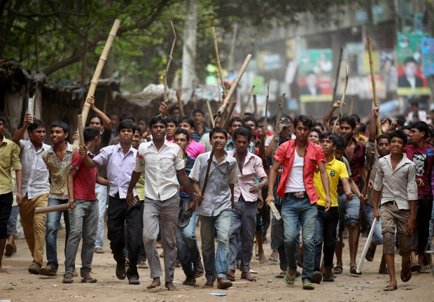 Protesters gather after Bangladesh factory collaps