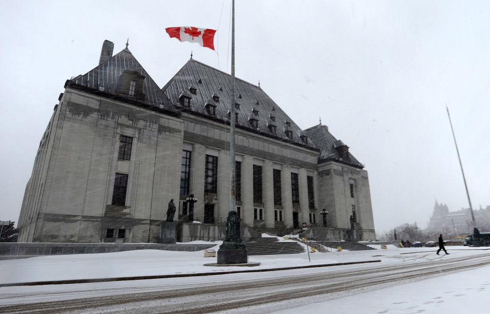 Canada's top court ruled against the police practice of having lawyers help cops prepare their notes before trial.(Sean Kilpatrick / THE CANADIAN PRESS)