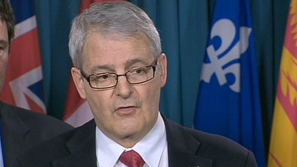 Marc Garneau, a Liberal science and technology critic, speaks at a press conference in Ottawa, Thursday, March 10, 2011.