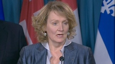 Karen McCrimmon, a Liberal candidate, speaks at a press conference in Ottawa, Thursday, March 10, 2011.